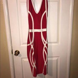 Sexy Red Cross back dress